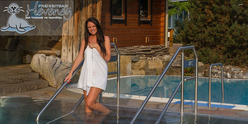 Gutschein für Saunawelt und Badespaß zum halben Preis! von Freizeitbad Heveney