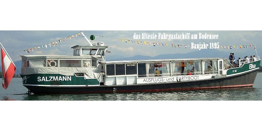 Die MS Elisa, das älteste Fahrgastschiff am Bodensee