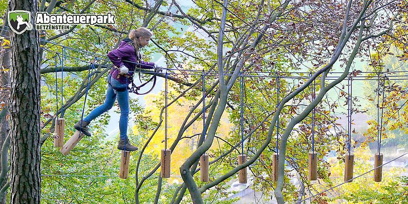 Gutschein für Deutschlands Premium Kletterwald – wunderschön gelegen in der Fränkischen Schweiz von Abenteuerpark Betzenstein