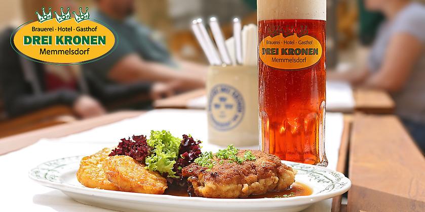 Gutschein für Gute fränkische Küche und hauseigenes Bier von Hotel & Brauereigasthof Drei Kronen
