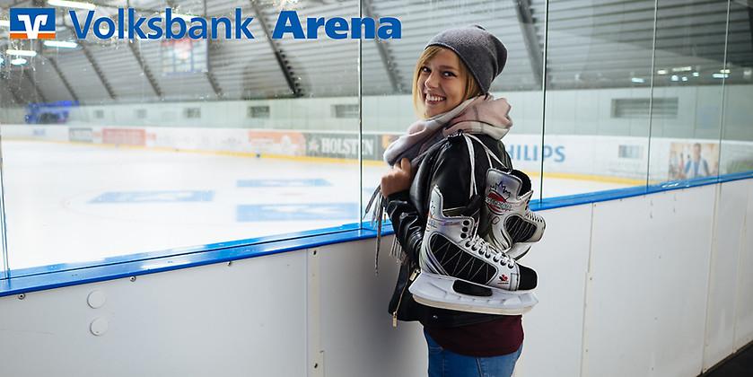 Gutschein für Eislaufen für Jedermann von Volksbank Arena