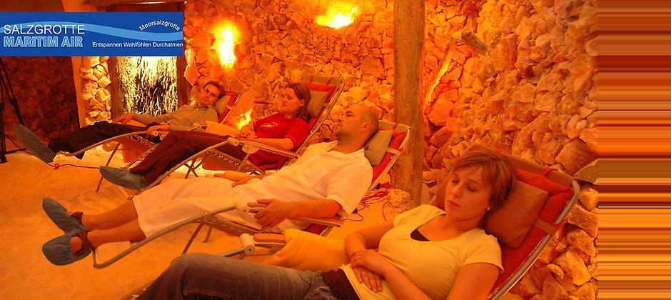 Gutschein für Entspannen, Wohlfühlen, Durchatmen von Salzgrotte Maritim Air