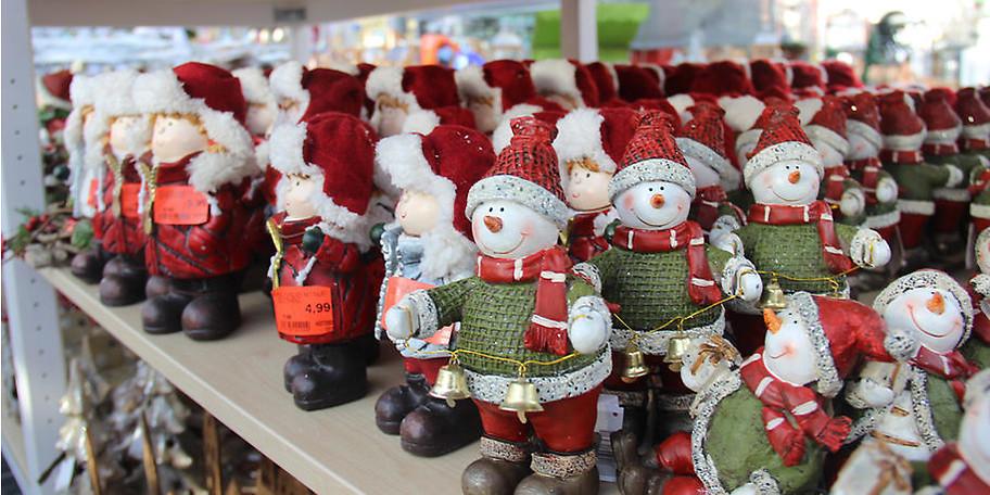 Weihnachtliche Dekoration im hagebaumarkt Paderborn