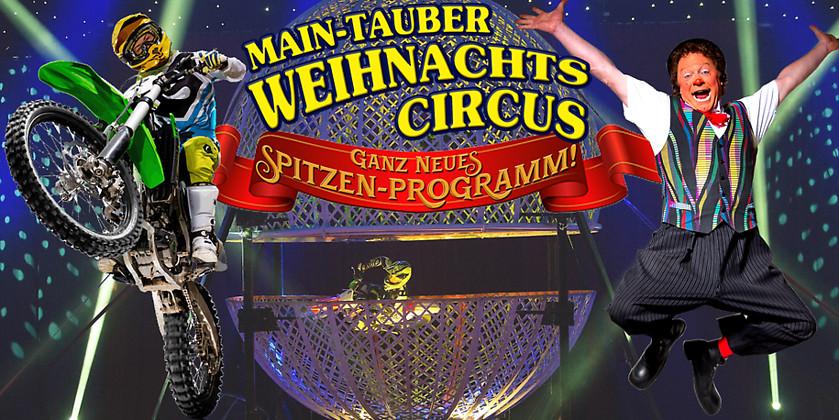 Gutschein für 2 Plätze Front-Tribüne zum Preis von einem! von Main-Tauber Weihnachtscircus