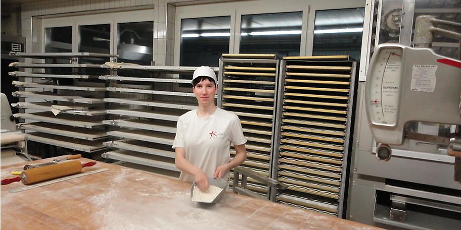 Knusprig frische Brote werden hier gebacken