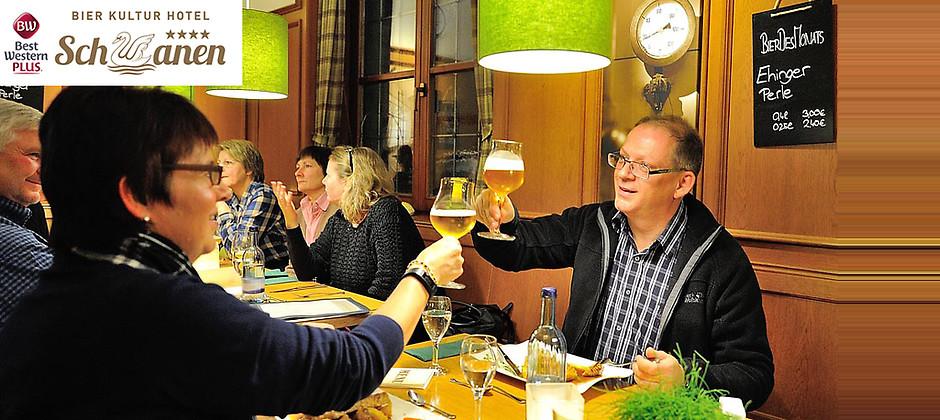 Gutschein für Ihr Kurzurlaub in der BierKulturStadt Ehingen zum halben Preis! von BierKulturHotel Schwanen GmbH