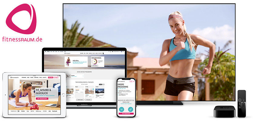 Gutschein für 1 Jahr Fitness für zu Hause zum halben Preis! von fitnessRAUM.de