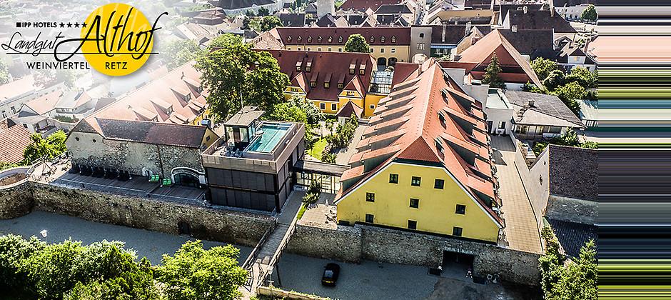 Gutschein für 3 Übernachtungen für 2 Personen zum halben Preis! von Hotel Althof Retz