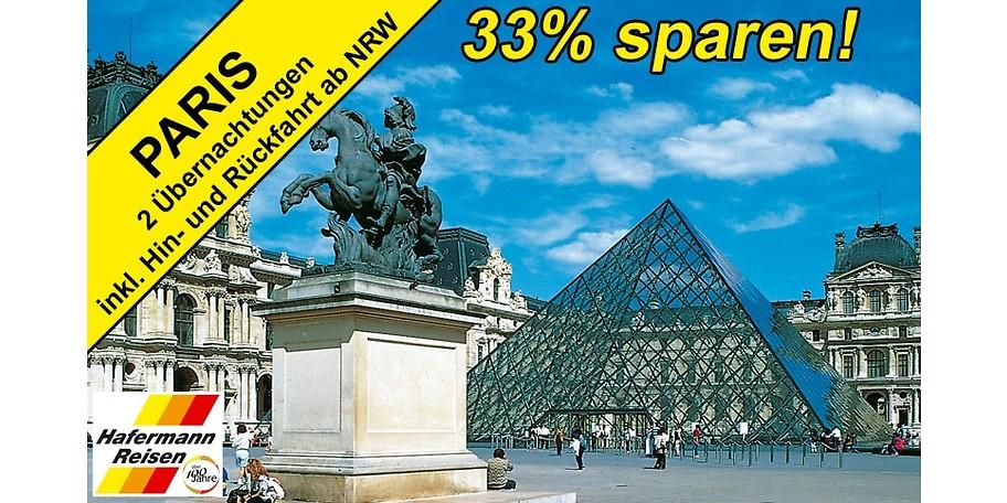 2 Nächte Paris für zwei Personen - mit diesem Gutschein 33% günstiger