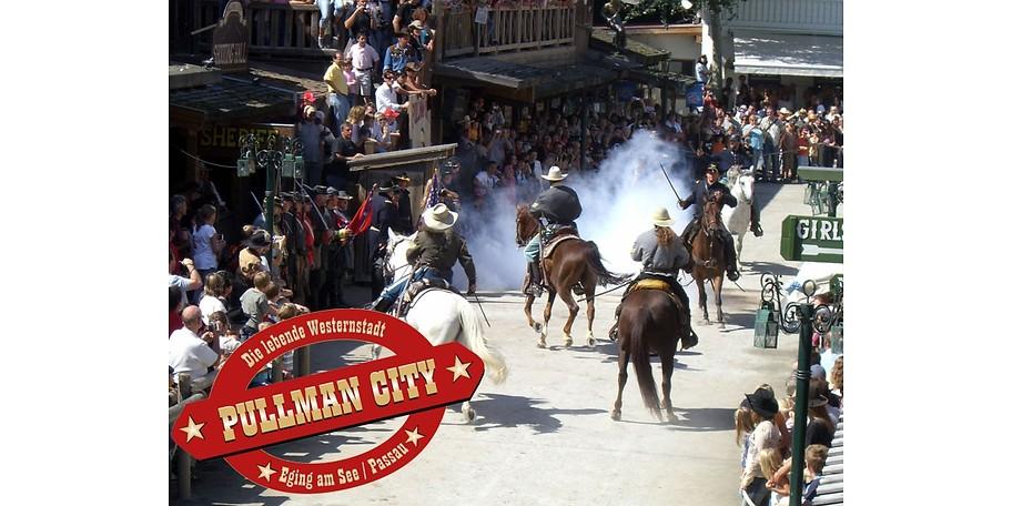 Erleben Sie Pullman City und sparen Sie mit einem Gutschein für das Familientagesticket