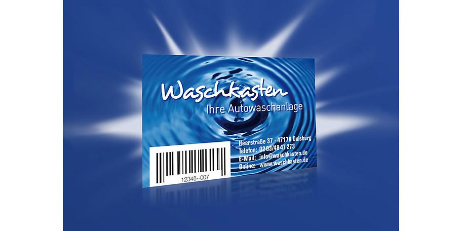Die Waschkasten-Bonuskarte können Sie immer wieder aufladen und erhalten damit attraktive Sparvorteile