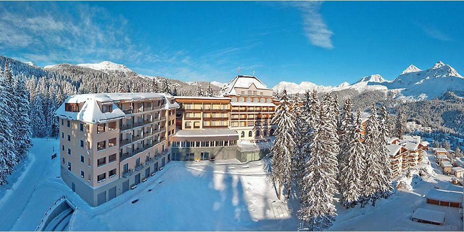 Unser Hotel mitten in der winterlichen Schweiz