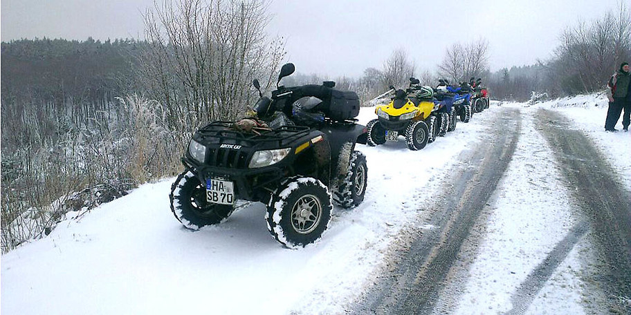 Die Winter-Quadtour zählt zu den Highlights bei World on Wheels