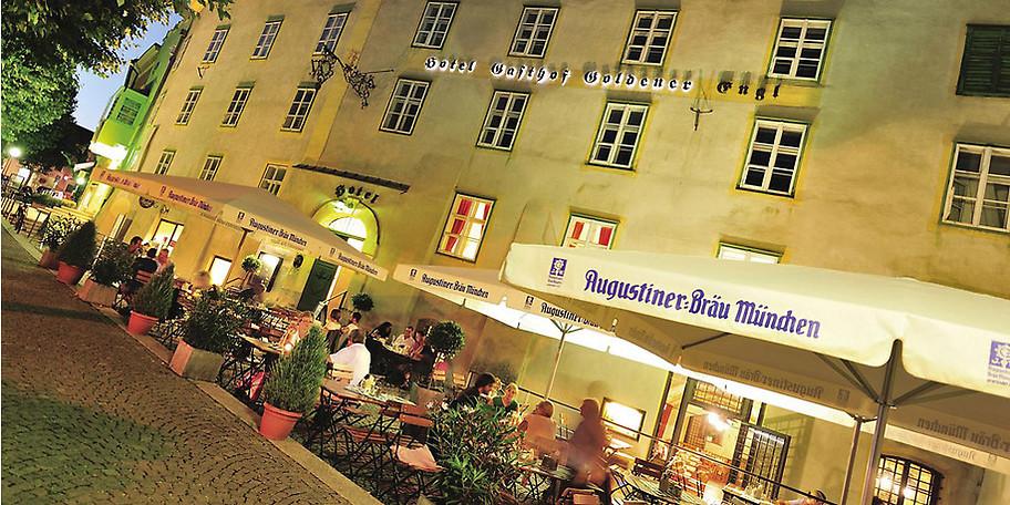 Außenansicht des Hotels Goldener Engl in Hall in Tirol