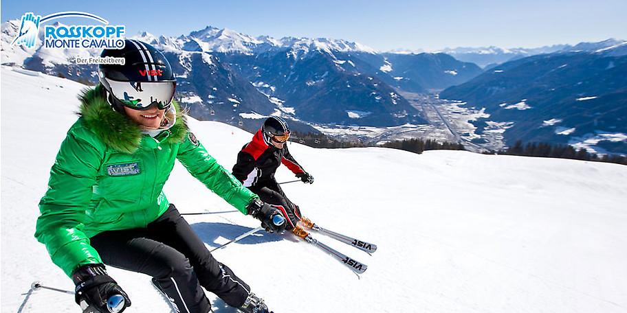 Ungebremster Skispaß für die ganze Familie im Skigebiet Rosskopf