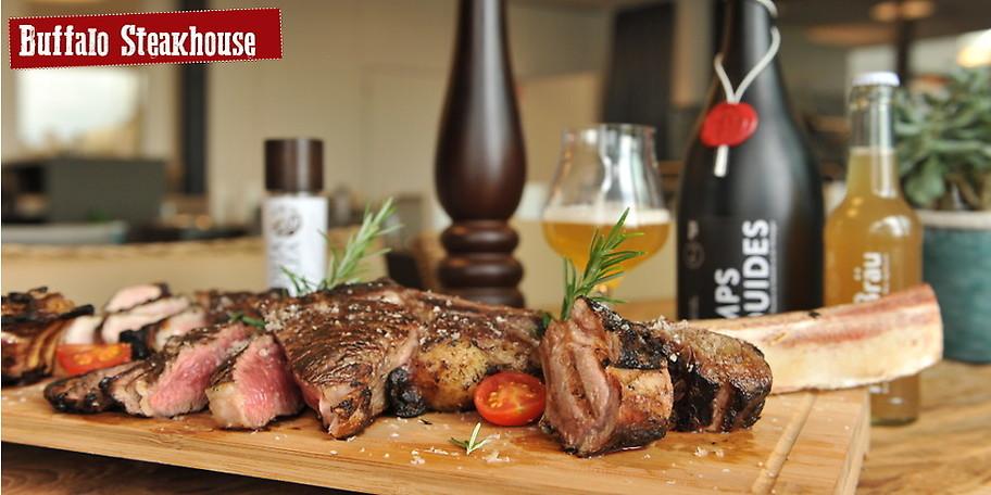 Das Buffalo Steakhouse besticht durch eigene Fleischreifung und höchste Qualität