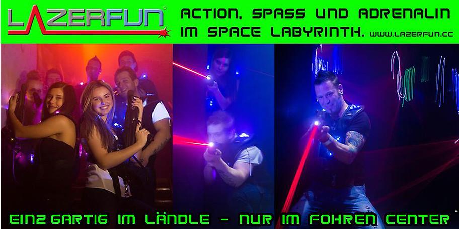 Lasertag ist eine actionreiche und in Vorarlberg einzigartige Trendsportart