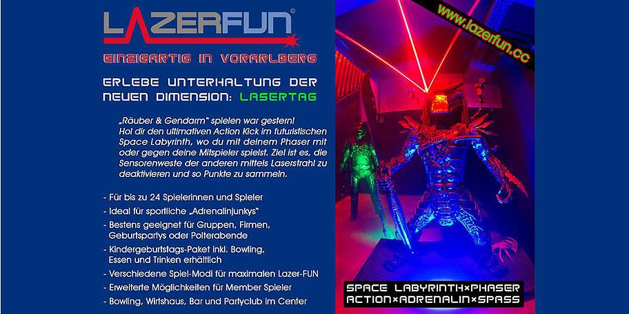 """Vergleichbar ist Lasertag mit einem Hightech """"Räuber und Gendarm"""" Spiel"""