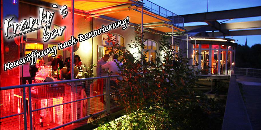 Neue, stylische Atmosphäre direkt an der Ruhr in Franky's Bar in Mülheim