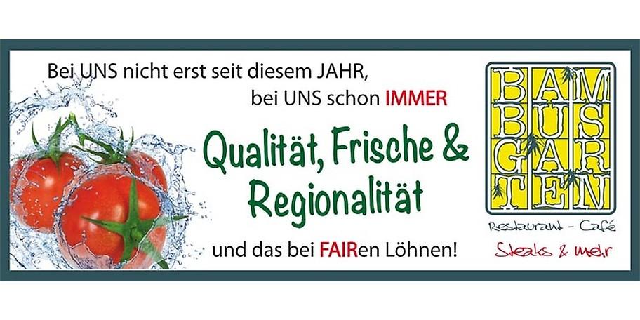 Qualität, Frische & Regionalität