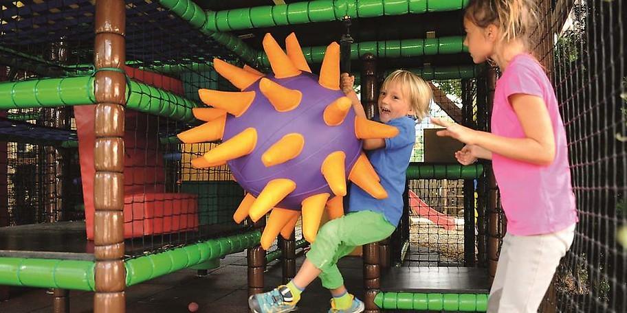 Beim Soft-Play können sich die Kleinen etwas austoben