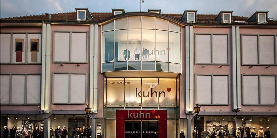 Außenansicht des Modehauses Kuhn in Bad Mergentheim