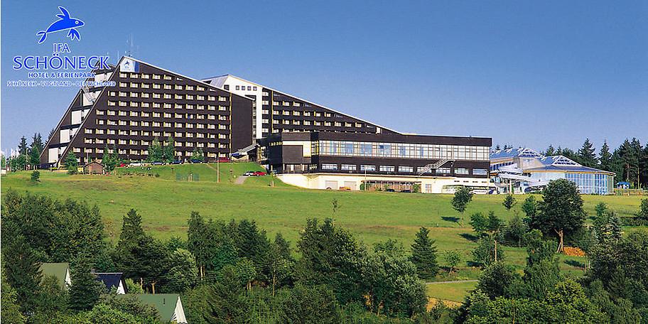 Wunderbare Außenansicht des IFA Schöneck Hotel & Ferienpark