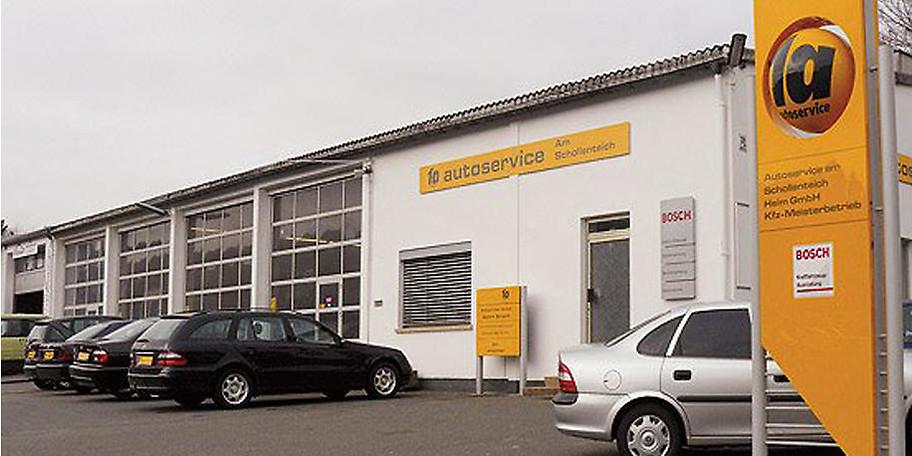 Außenansicht des Autoservice am Schollenteich in Hof