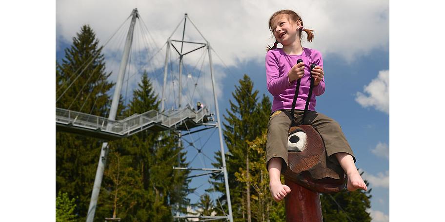 Spiel und Spaß im skywalk allgäu Naturerlebnispark