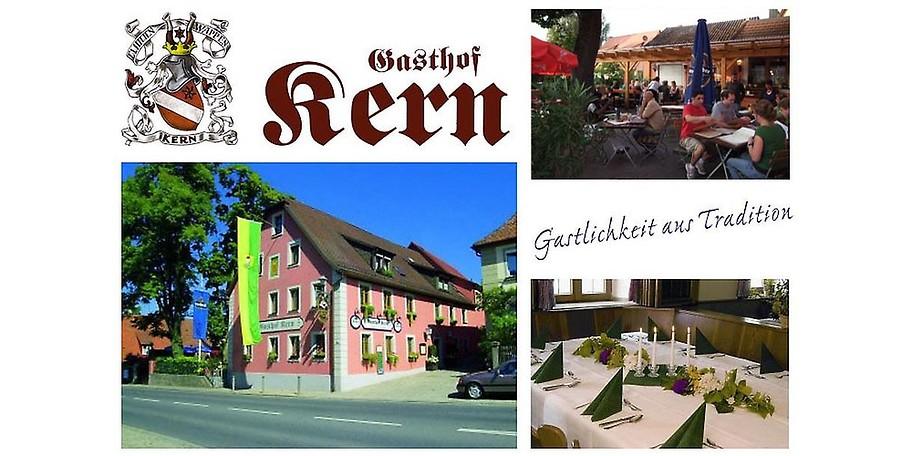 Gastlichkeit aus Tradition im Gasthof Kern in Lehrberg