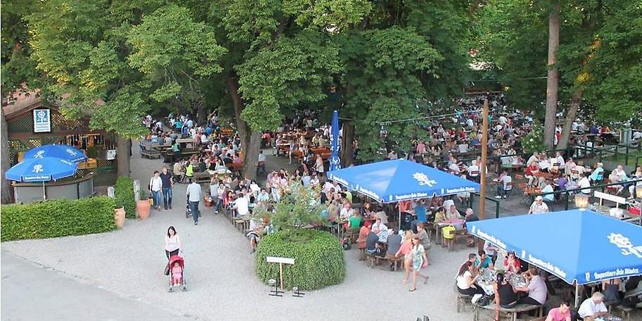 Der Augustiner Schützengarten ist ein ausgefallener Biergarten in München