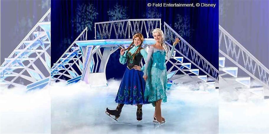 Anna und Elsa bei Disney on Ice in der Olympiahalle München