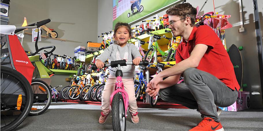 Bei der riesigen Auswahl werden auch die kleinen Radfahrer fündig