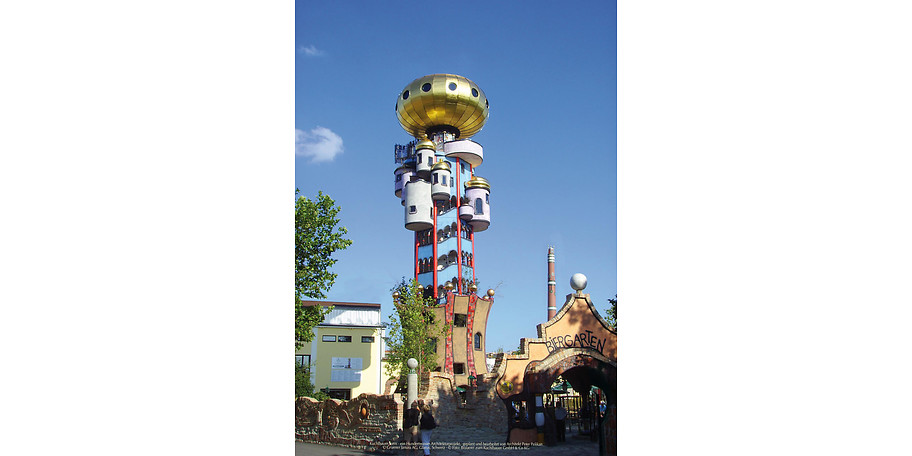 Kuchlbauer Turm ein Hundertwasser Architekturprojekt geplant und bearbeitet von Architekt Peter Pelikan