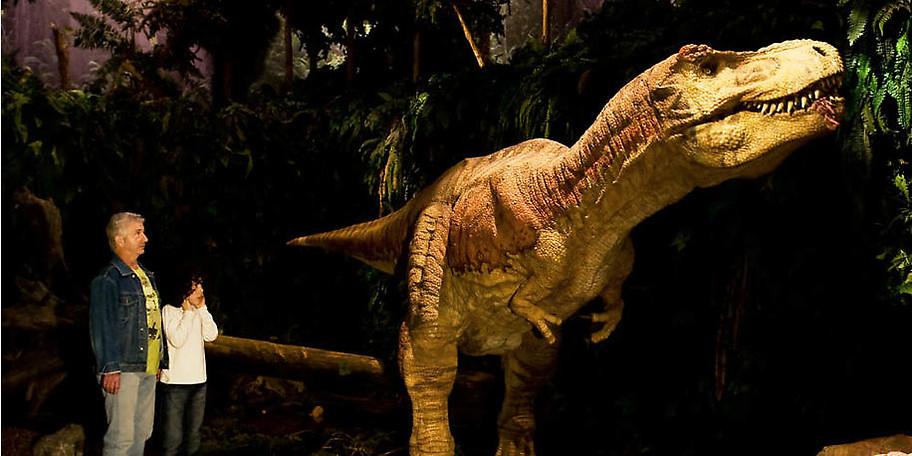 Lebensgroße Dinosaurier im GONDWANA – Das Praehistorium