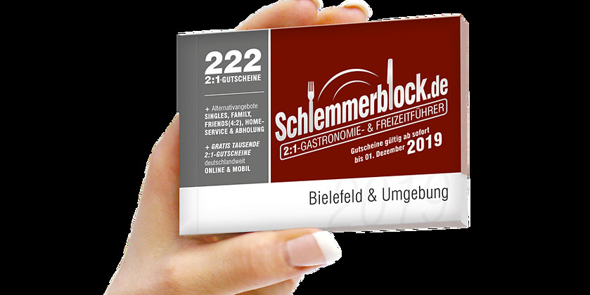Gutschein für Schlemmerblock Bielefeld 2019 von Schlemmerblock.de