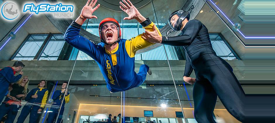 Gutschein für Fliegen Sie mit uns – zum halben Preis! von FlyStation Munich