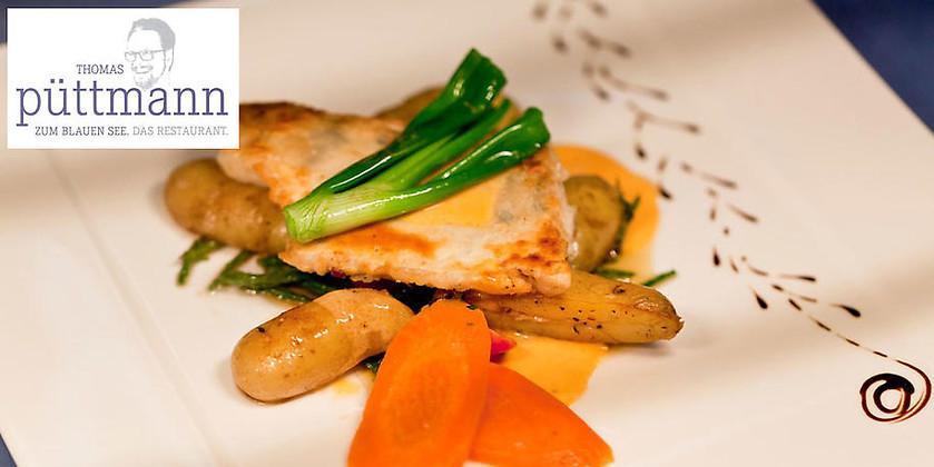 """Gutschein für Wenn Lebensmittel auf Inspiration treffen wird die Mahlzeit zum Erlebnis! von Thomas Püttmann: Restaurant """"Zum Blauen See"""""""