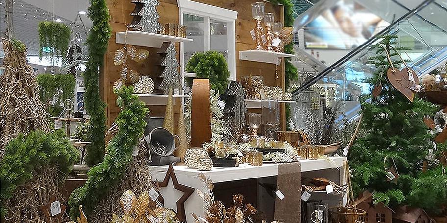 Eine große Auswahl an dekorativen Artikeln für die kalte Jahreszeit