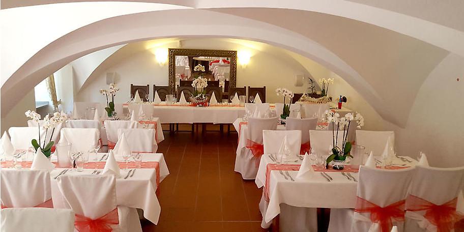 Die Räume im Schloss Borbeck sind einzeln für ca. 20 bis 50 Gäste nutzbar